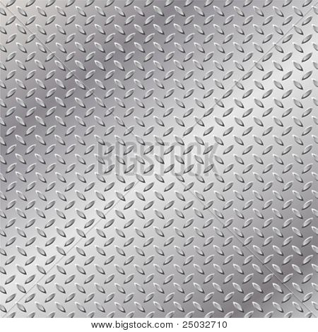Un fondo metálico con placa de rodadura