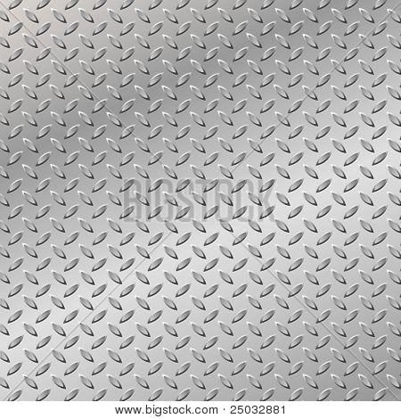 A Metal Background with Tread Plate Pattern (Also available in Vector)