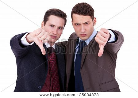 Business Men With Thumb Down Gesture