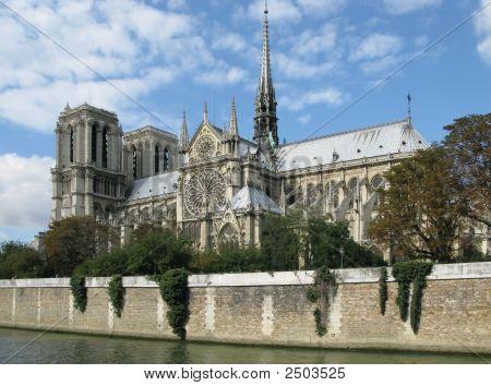 Notre Dame And River Seine
