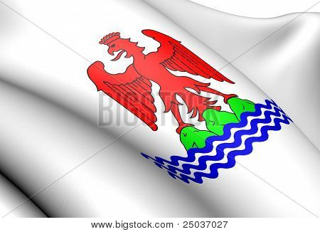 Flag Of Nice, France.