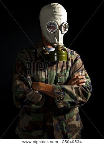 soldier in a nuclear apocalypse