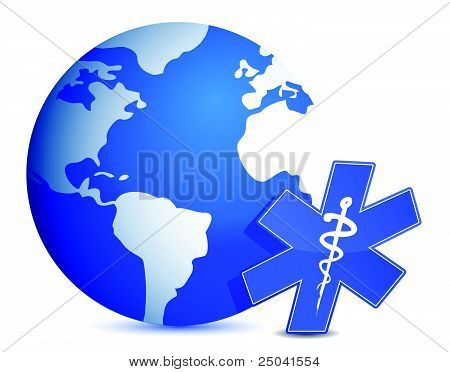 globo con diseño de ilustración médica símbolo