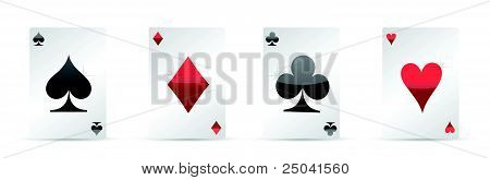 Playing cards. Four aces poker illustration design