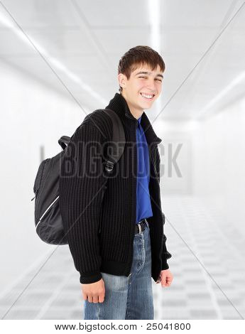 Teenager With Knapsack