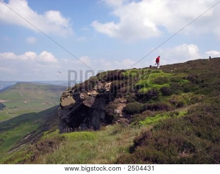 Paraglider And The Walker