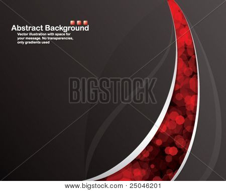 Vector. Black background with transparent random red cells.