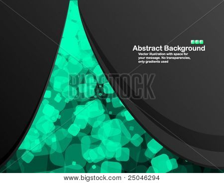 Black background with random transparent cells. Vector illustration in RGB colors.