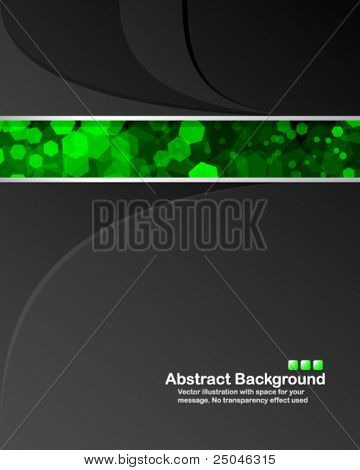 """Abstract background with transparent random green cells and space for your message. No """"transparency"""" effect used"""