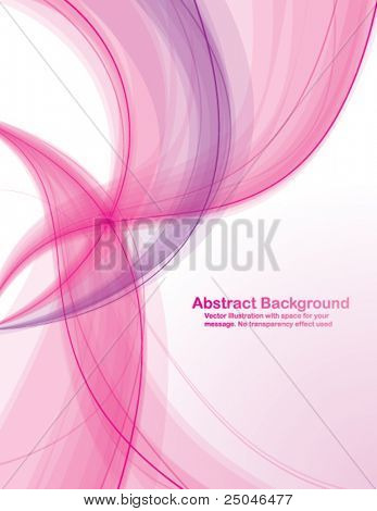 Abstract  colorful  transparent waves on white  background. Vector illustration in CMYK colors