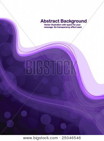 Abstract purple  transparent waves on white  background. Vector illustration.