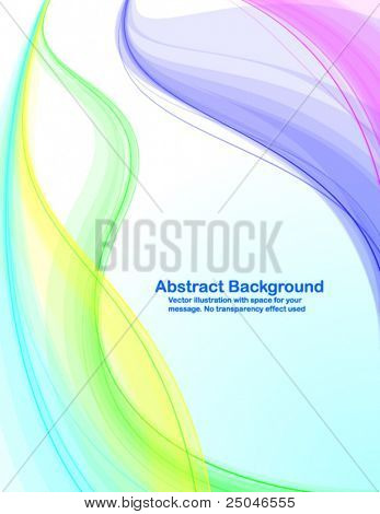 Abstract background with colorful transparent waves. Vector illustration in RGB colors.