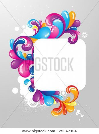 Colorful frame for your message