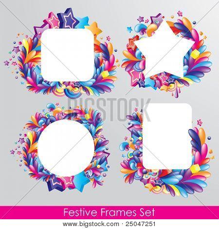 Colorful festive frames set for your design