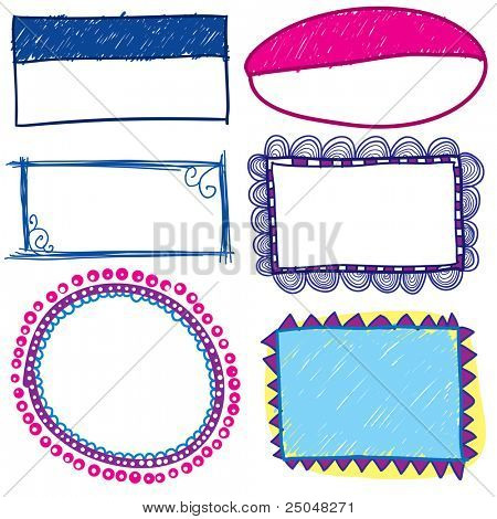 Hand drawn trendy frames