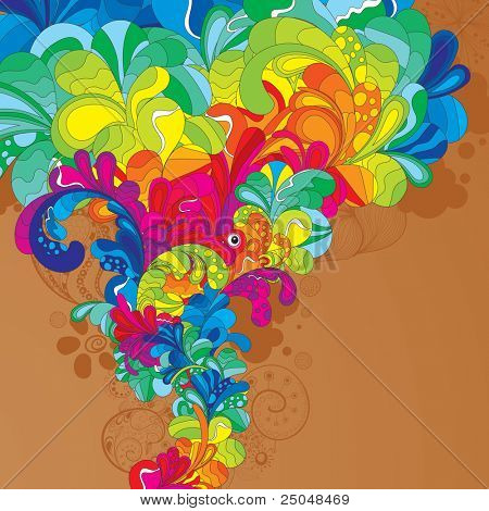 Colorful hand drawn illustration. Enjoy!