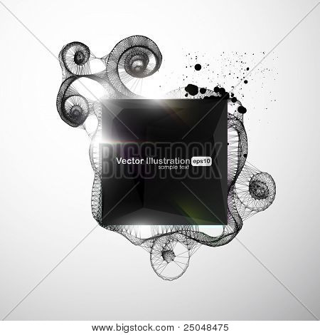 Eps10. Concepto original de estilo contemporáneo. Diseño detallado con espacio para su mensaje. Que te diviertas