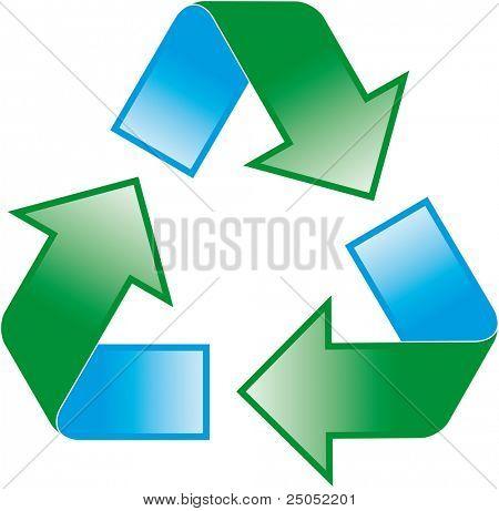 símbolo de reciclagem universal (vetor na carteira)