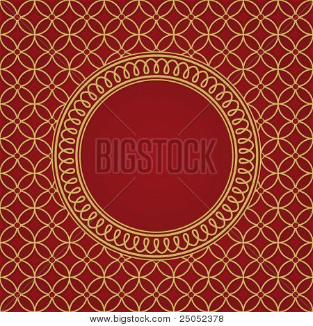 seamless pattern and round frame