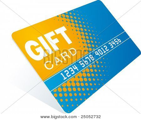 orange-blue gift card