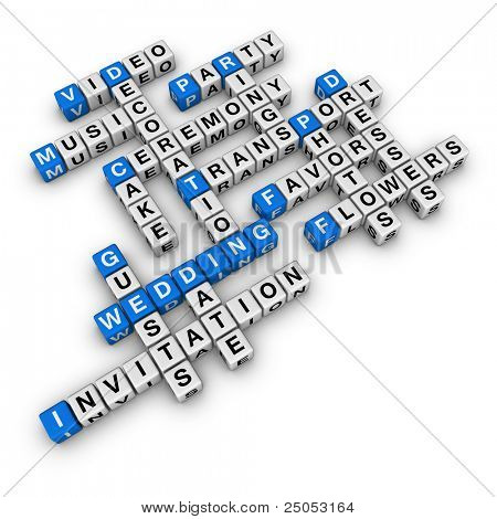 wedding checklist (blue-white cubes crossword series)