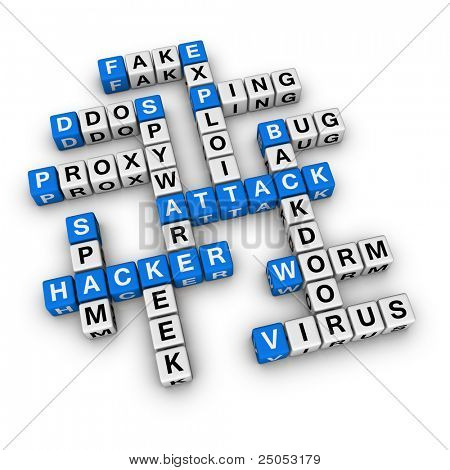 hacker attack  (blue-white cubes crossword series)