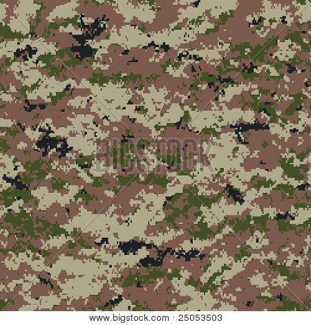 digital camouflage seamless pattern (desert palette)