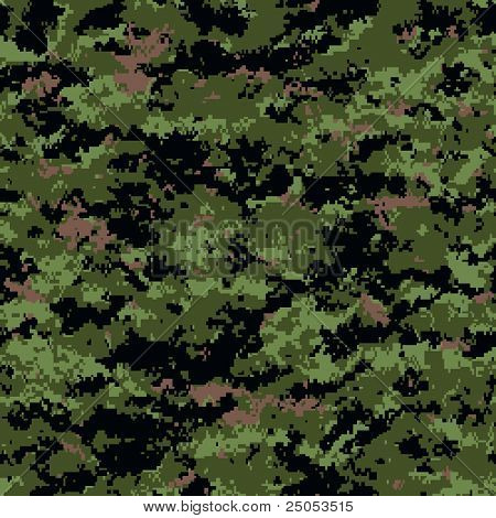 digital camouflage seamless patterns (forest palette)