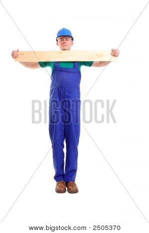 Builder With Plank