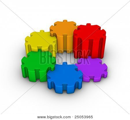 colorful jigsaw puzzles diagram