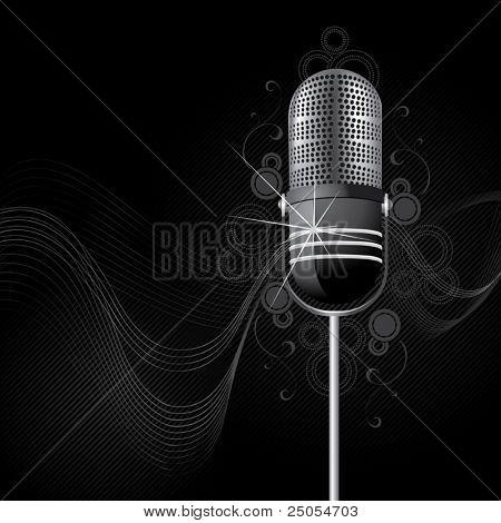 Retro brillante un micrófono