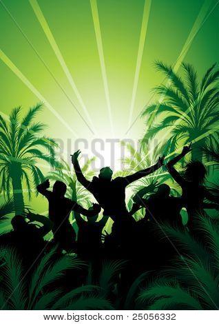 Tana under palm trees