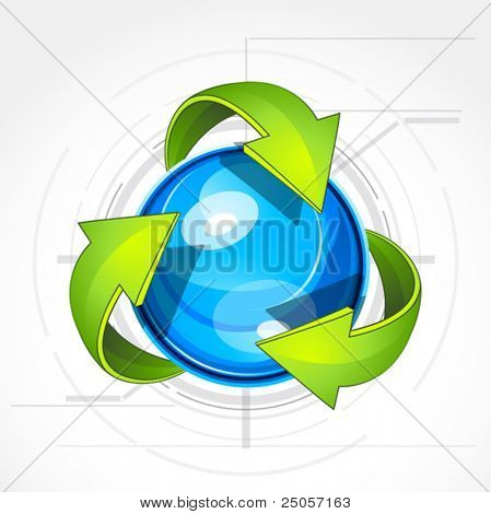 Illustration of recycle