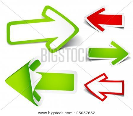 Paper arrows. Vector illustration