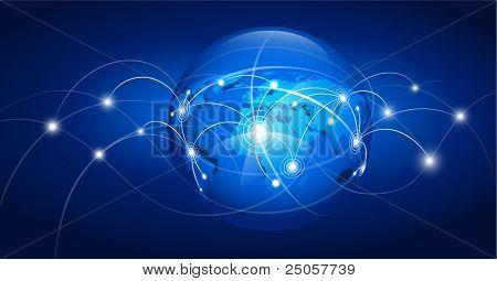 Mapa do mundo abstrato. Ilustração vetorial