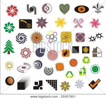 a set of various vector symbols and logos
