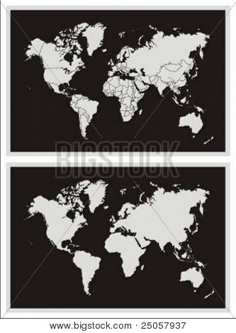 world map - vector illustration