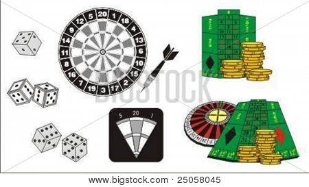 gambling attributes - vector