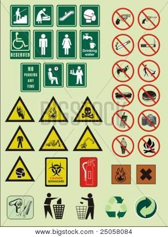 various vector signs