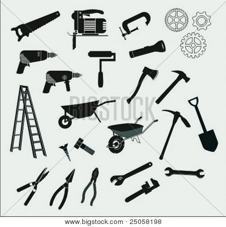 set of various vector tools
