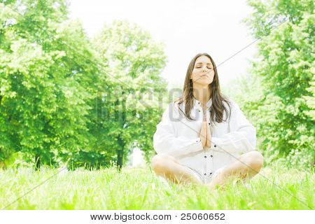 Yoga Woman Meditation Pose