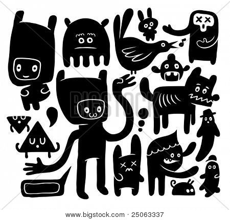 Funny doodles. Vector illustration.