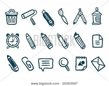 Briefpapier-Icons set. Vektor-Illustration.