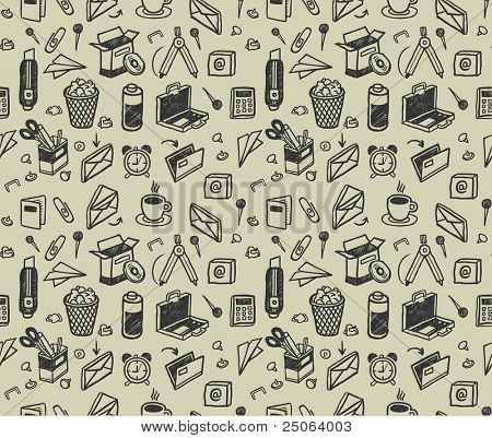 Seamless stationery pattern. Vector illustration.