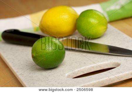Limes, Lemons And Knife