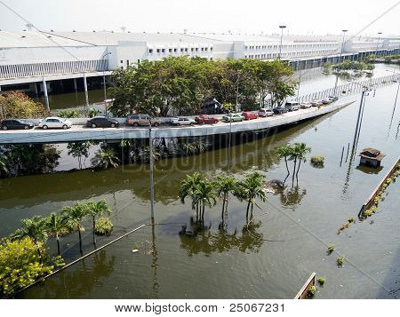 Flood In Bangkok, Thailand