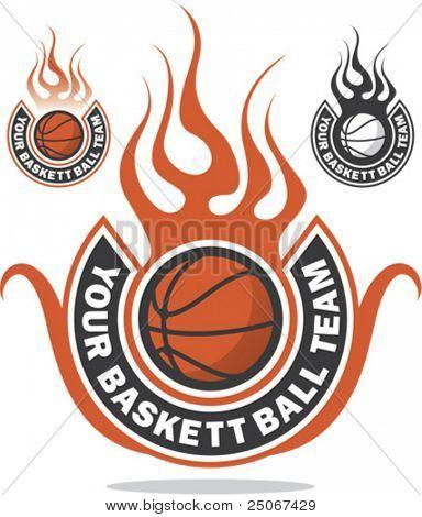 Logotipo de baloncesto hizo listo