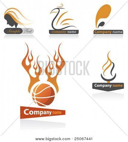 Conjunto de logotipo