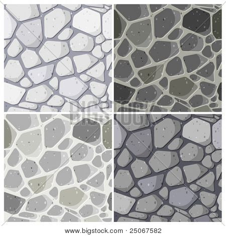 Set of seamless stonewall