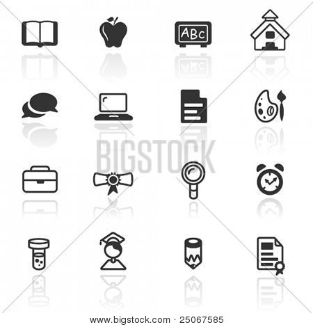 Icon set educación
